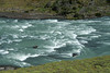 Rapids along the glacial rock flour water, of Rio Paine.
