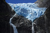 Ventisquero Colgante - Hanging Glacier - the fusion of ice, igneous rock, and glacial milk water.