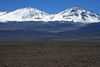 Cerro Tres Cruces Central (l) and Cerro Tres Cruces Sur (r) - from along the Salar de Maricunga.
