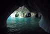 Calcite marble sea caves, along the western shoreline of Lago Carrera - part of the Capillas de Marmol Nature Santuary.