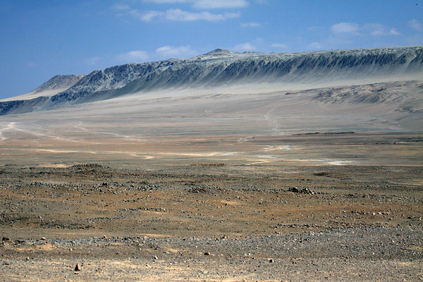 From lower northern slope of Cerro Moreno - northward to Cerro Bandurria, the south-central area of the Mejillones Peninsula, a coastal batholith uplifted by the Atacama Fault - Antofagasta region - Atacama Desert.