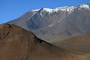 Beyond Cerro Cebollar Viejo - up to the snow-cloaked crater rim of Cerro Palpana - Loa province, northern Antofagasta region.