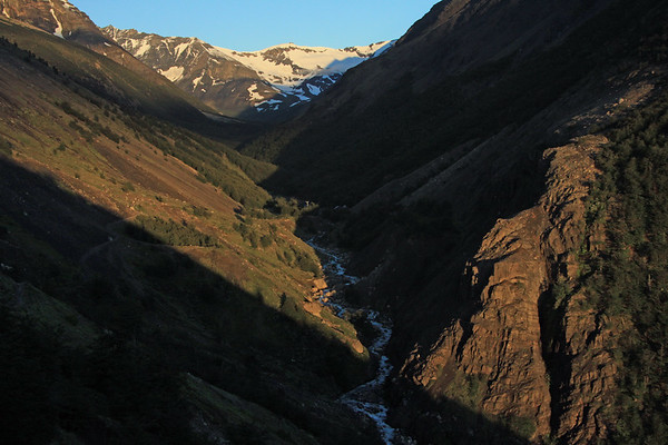 Up the Rio Asencio - to the distal Cerro Oggioni, at the confluence of the Silence Valley (ne to sw) with the Asencio Valley (nw to se)