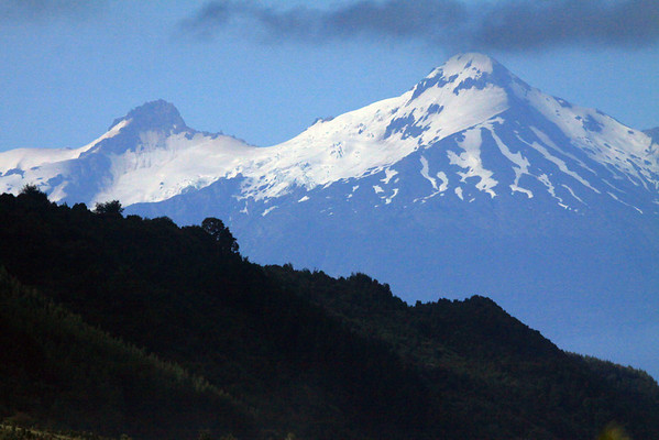Summit of Volcan Yate - rising to about 7,175 ft. (2,187 m) - along the Patagonia Andes.