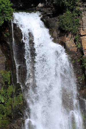 Crest of the ribbon falls of the Salto del Rio Malleco.