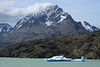 Drift ice upon Lago Grey - across the peninsula, to Cerro Paine Grande (Bariloche Point) - and part of Cerro Catedral (l).