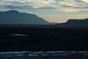 Sunset light upon the alluvial plain of the Rio Yelcho - to the eastern slope of Isla Puduguapi (r), a peninsula during low tide - and the northwestern lower slope of Volcan Corcovado (l), ending at Punta Auchemo - western Palena province - Los Lagos region.
