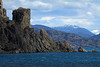 """Lago General Carrera - also know as """"Chelenko"""" meaning (turbulent or windy water), in the indigenous Tehuelche language - here along its rock shoreline at the edge of the General Carrera National Reserve - Aisén region."""