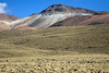Along the volcanic rock ridges and slopes northeast from Volcán Tatio, with the tussock grass and boulders below - Loa province - northeastern Antofagasta region.