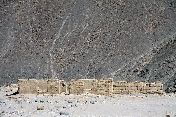 Adobe dwellings at the Ruins of Poquios, a mining town abandoned around 1930 - <br /> along the Quebrada Paipote - at the juncture with the Quebrada Banderita - northeastern Copiapó province - Atacama region.