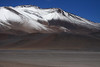 Mid-summer season snow upon Cerros Barrancas Blancas - up its northwestern slopes to its peak at around 20,075 ft (6,119 m) - northeastern Copiapó province - Atacama region.