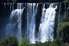 Laja Falls (Salto del Laja) - dropping about 115 ft (35 m) from the rock ledge along the crest and chutes along the western arm of the Río Laja - located in the western Biobío province - Biobío region - early summer season - central Chile.