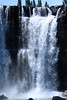 Río Laja - dropping about 115 ft (35 m) from the ledge, chutes, and crest of the Salto del Laja (Laja Falls) - Biobío province and region.