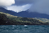 """Mid-morning upon """"Chelenko"""" meaning (turbulent/windy water) - the indigenous Tehuelche language and name for Lake Carrera - here along its western shoreline, and just northward from the Capillas Marmol Natural Santuary - Aisén region."""