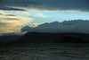 Lago Calafquen - sunset and cloud-bank.