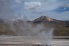 Geyser amongst the steam plume - Tatio Geyser Field - Loa province - northeastern Antofagasta region.