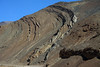 Folded rock along the steep eroded slope of the Andes Range - central Chañaral province - Atacama region.
