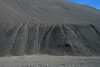 Eroded channels along the steep barren alpine slope of the Quebrada Paipote - northern Copiapó province - Atacama region.