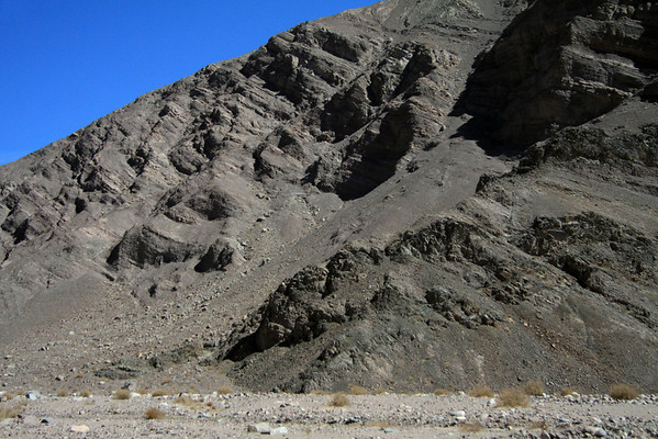 Igneous and sedimentary rock along the Quebrada Paipote - northeastern Copiapó province - Atacama region.