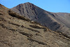 Rock folds along the slopes and ridges of the Cordillera Andes - central Chañaral province - Atacama region.