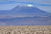 Volcán Miñiques, peaking at around 19,390 ft (5,910 m) - from here atop the largest salt flat in Chile, the Salar Atacama - Loa province - eastern Antofagasta region.