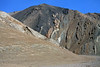 Sierra Andes - volcanic rock fuses with sedimentary rock - central Chañaral province - Atacama region.