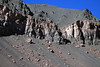 Late-afternoon sunlight and shadows upon the fallen talus rock boulders upon the slope of the Quebrada Paipote - northern Copiapó province - Atacama region.
