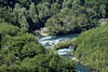 Río Cisnes (Swans River) - sourced from the far eastern area of the Coyhaique province - Aisén region - here its whitewater rapids just westward from its tributary of the Río Travieso, the source water from Lago Torres.