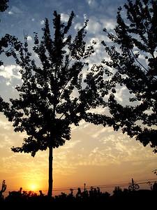 Countryside sunset near Beijing
