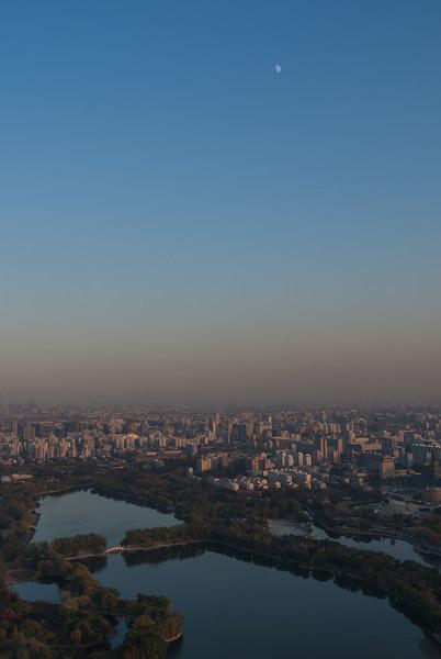 Moonrise over Beijing (Beijing, China, - 11/12/13, 4:24:11 PM)
