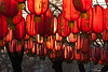 Lanterns in the setting sun on Guijie 簋街 food street (Dongcheng, Beijing, CN - 03/13/13, 5:15:15 PM)