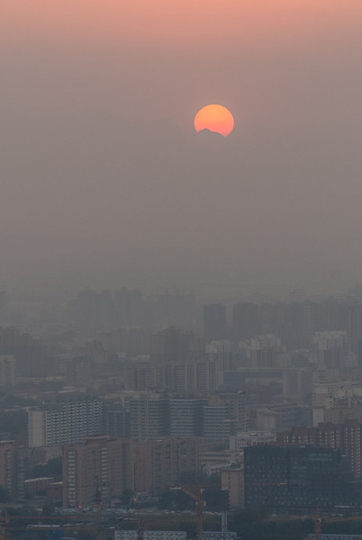 Sunset over Beijing (11/12/13, 4:57:50 PM)