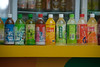 Beverages for sale at an outdoor kiosk on Beijing's Wangfujing Street. (Dongcheng Qu, Beijing Shi, CN - 08/12/06, 6:05:58 PM)