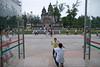 A boy poses as his father takes a photograph of him in front of Saint Joseph's Church on Beijing's Wangfujing Street. (Dongcheng Qu, Beijing Shi, CN - 08/13/06, 3:50:34 PM)