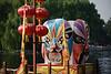 Beijing Opera masks decorate a Houhai Lake pier in Beijing. (07/26/11, 5:16:44 PM)
