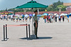 A Tiananmen Square security guard keeps cool on a hot July day. (07/26/11, 12:48:51 PM)