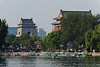 Beijing's Ming Dynasty bell tower (left) and drum tower as seen from Houhai Lake. (07/26/11, 5:19:05 PM)