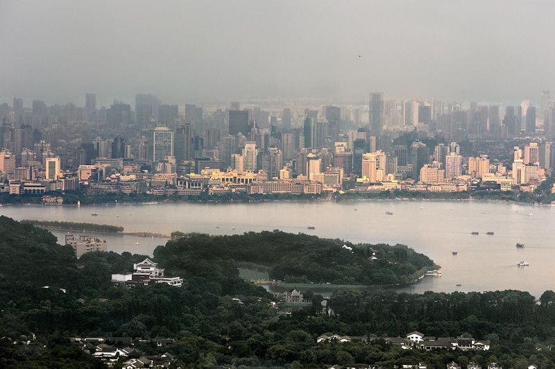 Hangzhou, the capital of eastern China's Zhejiang Province, is a city of almost nine million people, with approximately four million living in the urban core and the remainder living in the city's outlying rural areas. (07/24/11, 2:49:52 PM)
