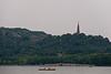 Boaters enjoy Hangzhou's Xi Hu (West Lake) near Baochu Pagoda and Duanqiao Bridge. (07/23/11, 5:02:33 PM)
