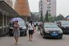 Yanshi Binguan Parking Lot at Lunchtime (Yanshi, Luoyang, Henan, CN - 07/12/11, 2:16:00 PM)