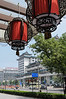 Chinese lanterns adorn the entrance to a guesthouse on Wanfujing Street (Dongcheng, Beijing, CN - 07/11/12, 11:40:54 AM)