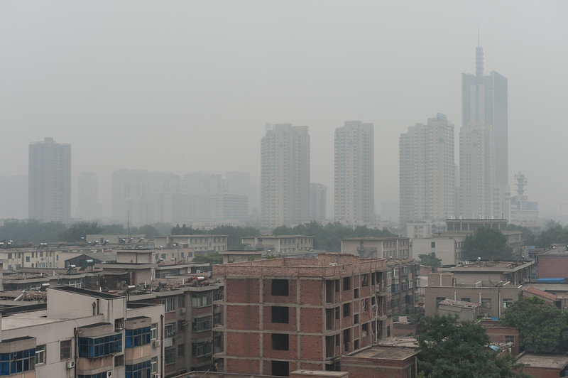 Zhengzhou, like much of northern and central China, is beset by incessant air pollution. (Zhengzhou, Henan, CN - 07/18/12, 12:30:15 PM)