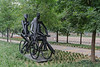 This park features a monument to bicycle riders.