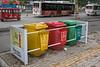 Curbside color-coordinated recycling. (Anyang Shi, Henan Sheng, CN - 07/15/16, 4:20:40 PM)