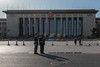 Guards confer in front of the Great Hall of the People. (Xicheng, Beijing, CN - 10/23/13, 2:42:26 PM)