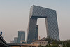 "CCTV headquarters, known affectionately by Beijing locals as ""Big Underpants"". (Chaoyang, Beijing, CN - 10/21/13, 4:19:15 PM)"