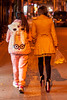Two interestingly-dressed young women walk down a hutong alley. (11/12/13, 8:13:13 PM)