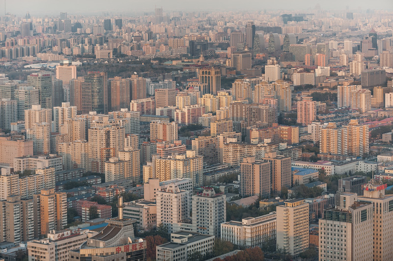 Beijing's Haidian and Chaoyang districts in late-afternoon light. (Haidian, Beijing, CN - 11/12/13, 4:26:41 PM)