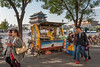 A food vendor awaits customers across the street from Tiananmen Square. Qianmen Gate and the Mao Zedong Mausoleum are seen in the background. (Xicheng, Beijing, CN - 10/23/13, 3:01:10 PM)