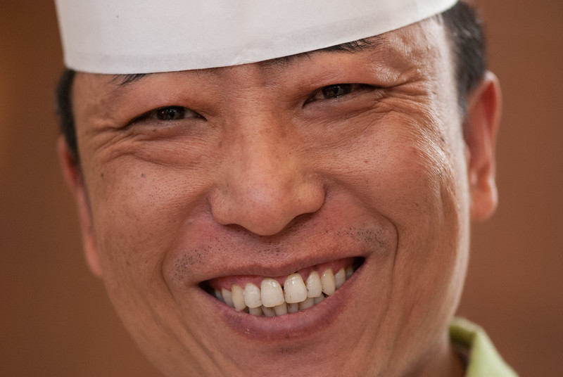 A chef at Beijing's Peace Hotel smiles for an impromptu portrait. (Dongcheng, Beijing, CN - 10/23/13, 10:42:29 AM)